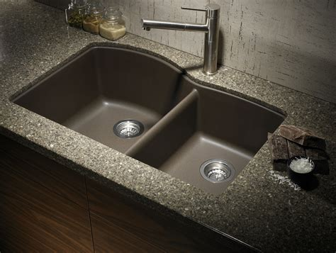 cafe brown granite sink with tropical brown granite counter
