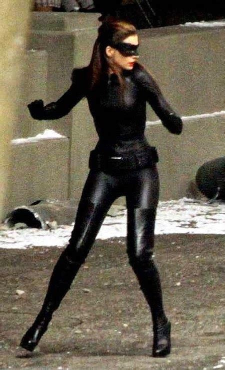 celebrity leather fashions anne hathaway catwoman