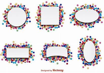 Confetti Label Party Vectors Vector Svg Birthday