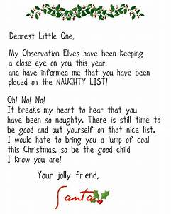 Crafty confessions nice and naughty letters from santa for Naughty letter from santa