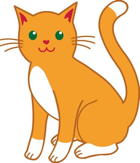 Clipart Cat - orange and white cat free clip