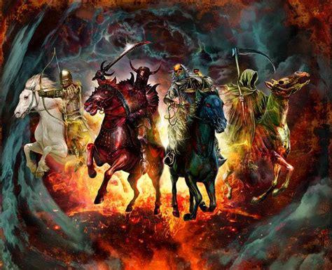 horsemen apocalypse four horseman plague revelation bible pestilence horse revelations biblical seven riders death rider apocalyptic pale re cubby wod