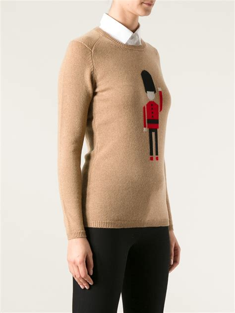 burberry sweater burberry prorsum soldier sweater in lyst