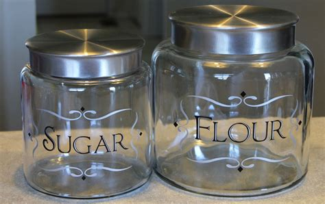 Canisters Flour Sugar cher s signs by design sugar and flour canisters with