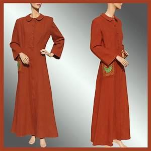 vintage 40s wool flannel robe 1940s dressing gown brown With vintage robe