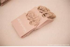 Romantic rose gold wedding custom laser cut pink place for 3d rose wedding invitations