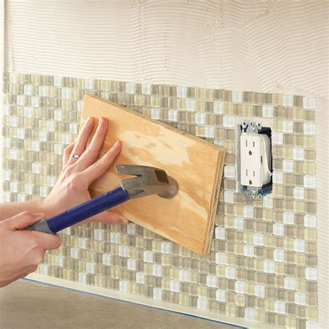 lowes self stick tile backsplash home decor