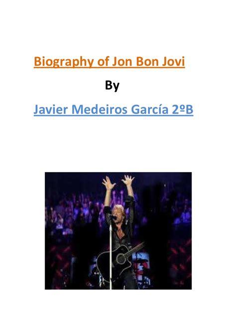 Javier Medeiros Biography Jon Bon Jovi