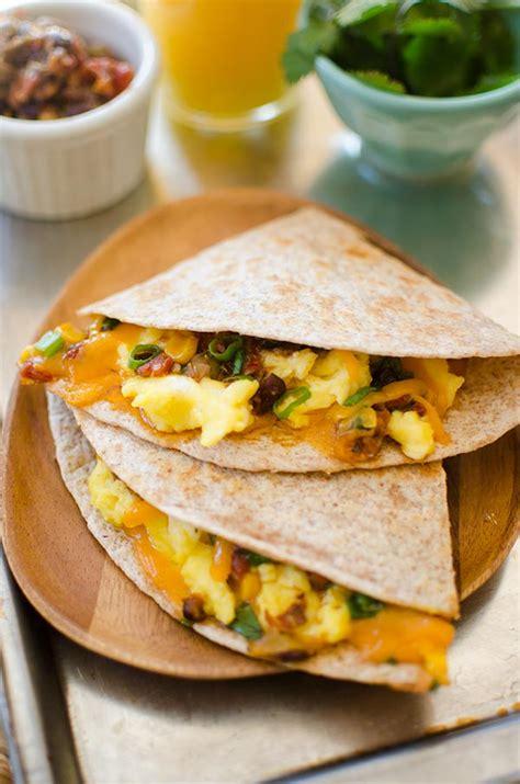 quick breakfast quesadillas living lou