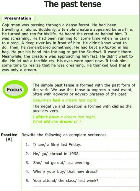 Grade 7 Grammar Lesson 2 The Past Tense (0)  Past Tense  Pinterest  Grammar, Grammar Lessons