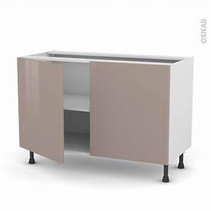 meuble de cuisine bas keria moka 2 portes l120 x h70 x p58 With meuble cuisine bas 120 cm 14 cuisine siena