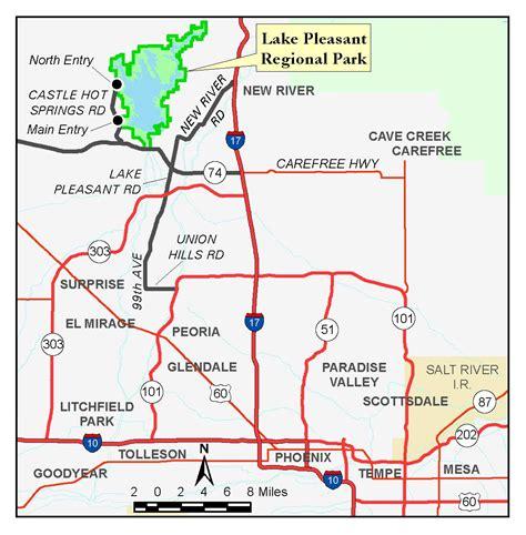 Fishing Boat Rentals Lake Pleasant Az by Lake Pleasant Arizona Map