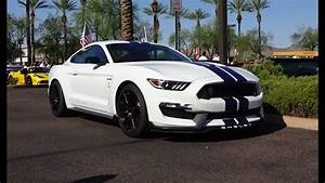 2016 Ford Mustang Shelby GT 350 Oxford White Paint & Engine Start on My Car Story with Lou ...