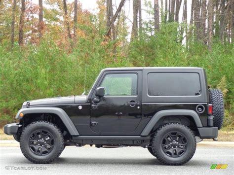 jeep black 2016 2016 black jeep wrangler willys wheeler 4x4 111213024