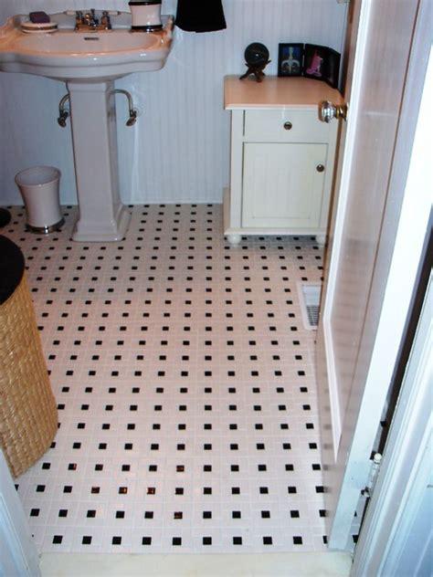 pinwheel bathroom floor tile traditional bathroom