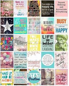 Happy Inspirational and Motivational Printable Sticker ...