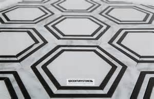 tile sheets for kitchen backsplash black and white hexagon pattern water jet marble mosaic