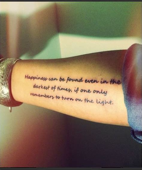 harry potter quote tattoo happiness