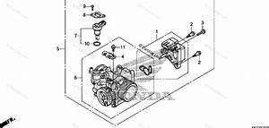 Honda Motorcycle 2011 Oem Parts Diagram For Throttle Body