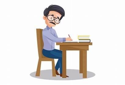 Teacher Exam Indian Checking Paper Seating Desk