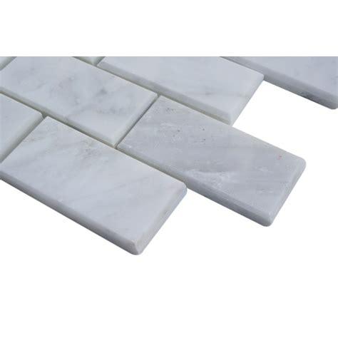 shop for asian statuary herringbone 1x3 marble tile at