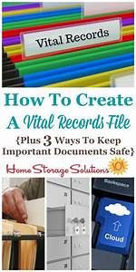 how to create a vital records file plus 3 ways to keep With documents of safe shop
