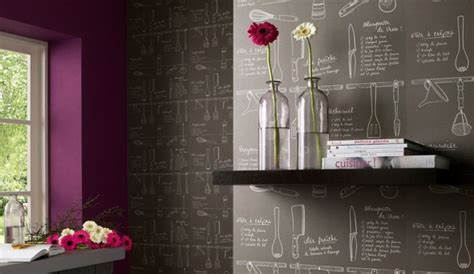 papier peint 4 murs cuisine les motifs rêvent les murs de la cuisine
