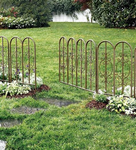 Montebello Outdoor Decorative Garden Fence Set Of 4 Iron