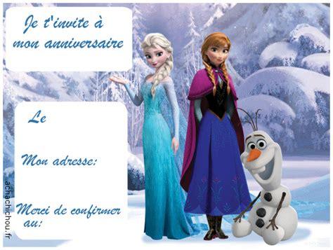 Carte D'invitation D'anniversaire Reine Des Neiges Frozen