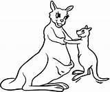Kangaroo Coloring Printable Outline Kangaroos Clipart Coloring4free Super Mother Animal Drawing Clip Kangoroo Boxing Results sketch template