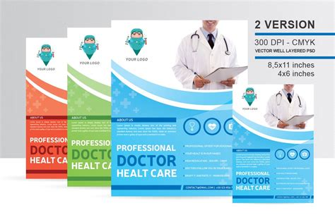 professional doctor health flyer flyer templates