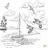 Coloring Sailboat Pelicans Printable Adult Flies Fly Clipart Sailboats Adults Supercoloring Bird Nautical Para Colorear Sheets Popular Drawings Dibujo Dibujos sketch template