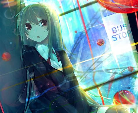 anime girls original characters long hair
