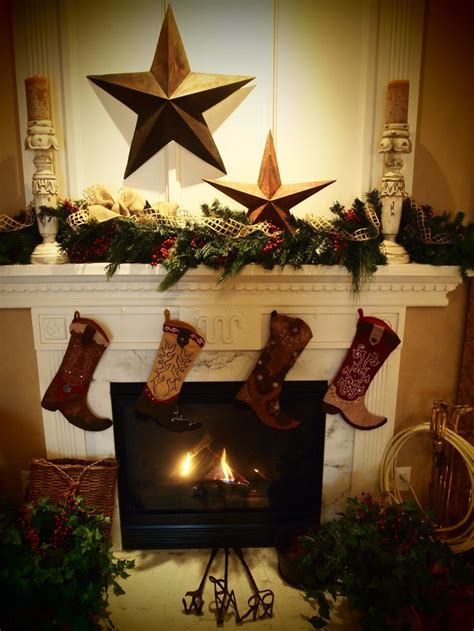 western christmas decorations ideas  pinterest