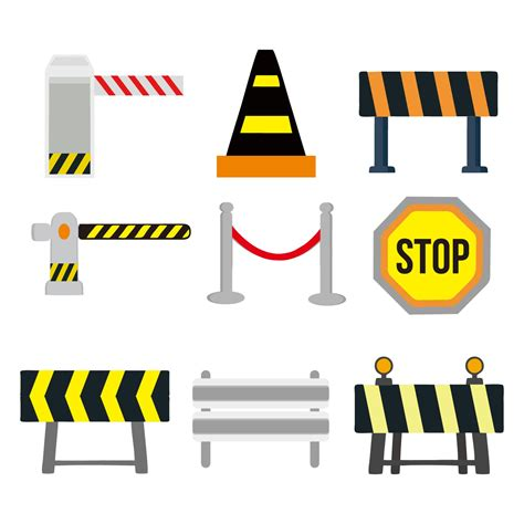 Free icons of road in various ui design styles for web, mobile, and graphic design projects. Guardrail and Traffic Sign Vector - Download Free Vectors ...