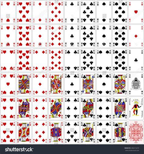 poker cards full set  color stock vector