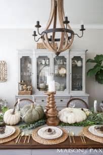 neutral thanksgiving table decor maison de pax