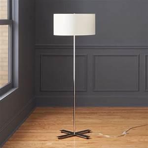 X, Base, Chrome, Floor, Lamp