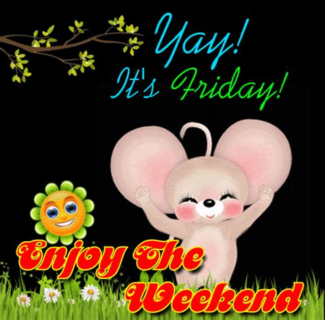 cute weekend ecard  enjoy  weekend ecards