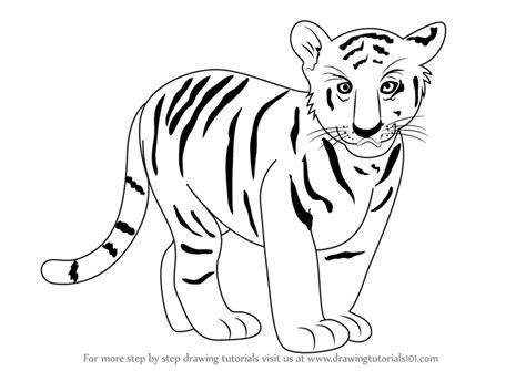 drawn tiiger easy pencil   color drawn tiiger easy