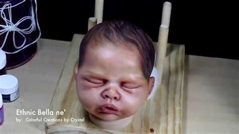 Kaya Kayu Painting Kit ethnic aa biracial ne reborn by sylvia manning wip