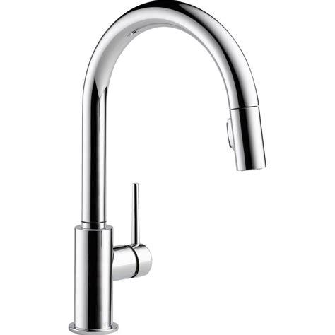 delta kitchen faucet with sprayer delta trinsic single handle pull sprayer kitchen