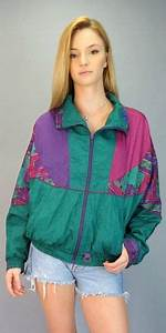 Vintage 80s 90s Neon Pink Purple Green Bright Windbreaker