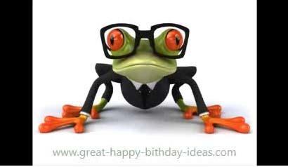 happy birthday frog song  funny birthday wishes ecards