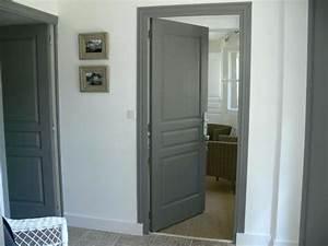 Porte Interieur Grise : peinture porte interieur la co peindre porte interieur ~ Mglfilm.com Idées de Décoration