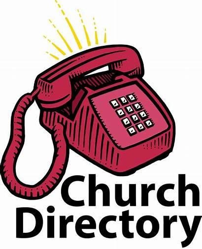 Directory Clip Church Clipart Christian Cliparts Telephone