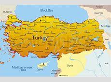 Vector kort over Tyrkiet land Vektor Colourbox