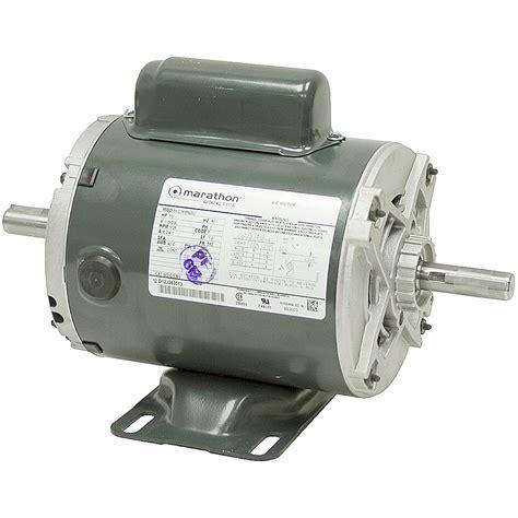 Electric Motor Shaft by 1 2 Hp 1725 Rpm 115 230 Vac Dual Shaft Motor Odp Ac