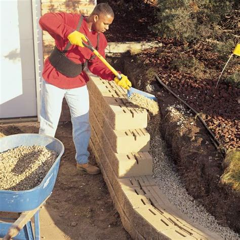 how to build a cement retaining wall miscellaneous how to build a concrete retaining wall blocks retaining wall blocks block