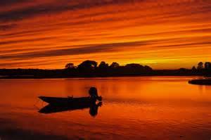 spectacular sunset barnhouse sengekontacket pond